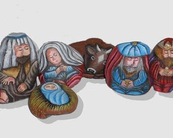 Nativity + Epiphany - 8 rocks
