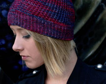 Shuttered beanie Hat PDF knitting pattern (instructions)