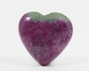 Ruby Zoisite cabochon 30.7Ct (23x22x6 mm) Heart Shape Natural gemstone  NS6452