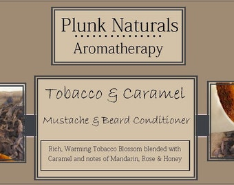 Tobacco and Caramel Mustache and Beard Conditioner