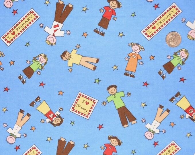 I Love Primary LDS Fabric Cotton FLANNEL - Alpine Original