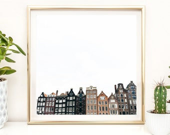 Home + Office Decor Photography Print - Amsterdam - Black and White