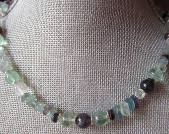 Fluorite Beads & Nuggets Necklace
