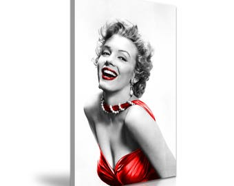 Marilyn Monroe Red Dress Canvas Wall Art Picture Print 50 cm x 76 cm