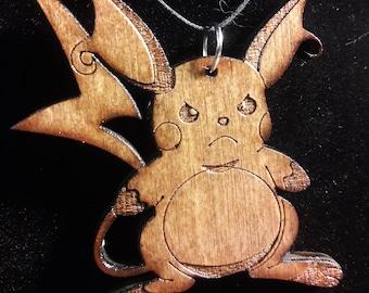 Pokemon inspired pendant featuring Raichu