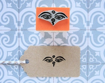 Buddha Eyes Stamp. Eyes of Buddha Stamp. Buddha Stamp. Buddhist Stamp. Tibetan Buddhism Stamp. Eyes of Buddha. Buddha. Tibetan Buddhism.