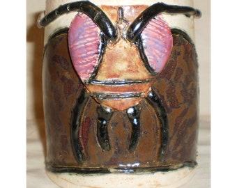 Cockroach Face Ceramic Coffee Mug