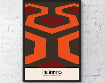 The Shining inspired print / Stanley Kubrick / Alternative Movie Poster / Clockwork Orange / Room 203 / Jack Nicholson / Gift