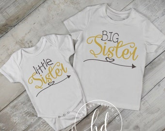 little sister • Big Sister • Baby Announcement • Baby Shower Gift •