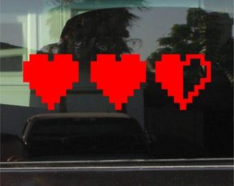 Legend of Zelda Heart Container 8 Inch Vinyl Sticker