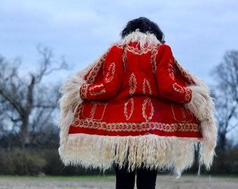 Love Me Do- Afghan Coat, Penny Lane Coat, Shearling Coat, Sheepskin Coat, Mongolian, Beatles, Almost Famous, Rare 60s