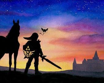 Legend of Zelda - Link, Navi, Epona, Hyrule - Sun Song