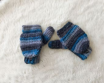 Convertible Texting Mittens, Women's Gloves, Mittens, Ready to Ship