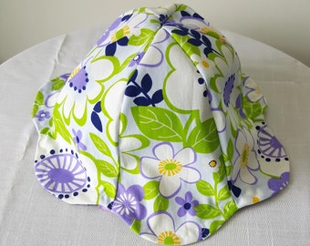 Reversible Purple Baby Sun Hat