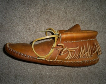 Hand made leather moccasins