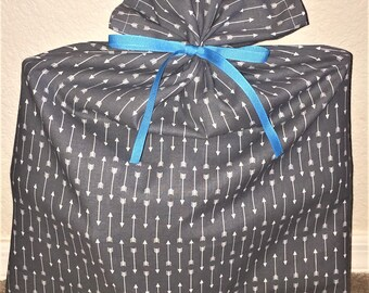 Grey Arrow Gift Bag