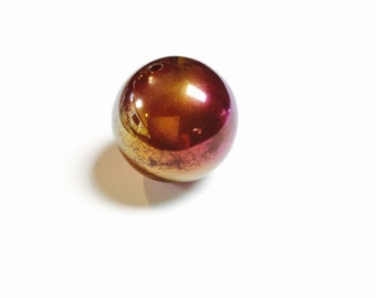 Large Carnelian Bead with Irridescent Finish - 1 Piece - #497