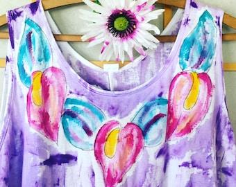 Plus Size Tunic - Womens Clothing - Cotton Tunic Top - Plus Size Top - Hawaiian Shirt
