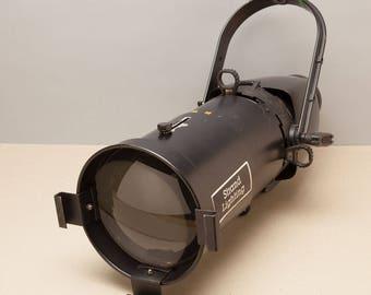"Vintage CENTURY STRAND Spot Light - 8x13 Ellipsoidal Theater Stage Light - Steampunk Lighting - Huge 8"" Glass Condenser - Axial Lekolite"
