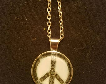 Celtic Peace Sign Necklace