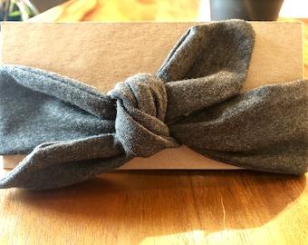 Baby knot headband. Dark grey