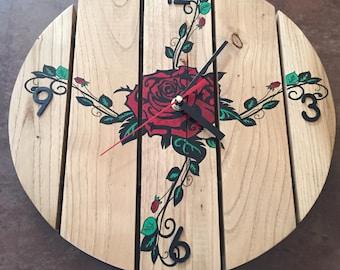 clock in oak