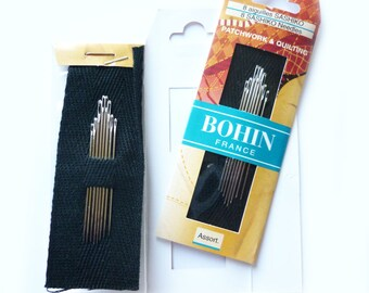 8 assorted sashiko embroidery needles various sizes
