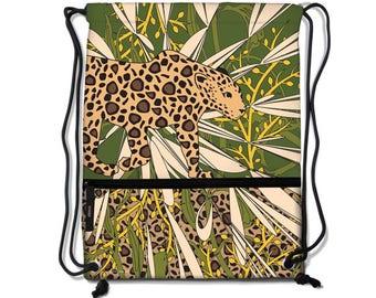 Jaguar Drawstring Backpacks