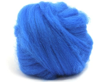 Royal (blue) - Blue Faced Leicester Wool Top - Roving - Needle/Wet/Nuno Felting - Spinning