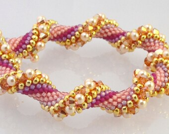 Cotton Candy Bead Crochet Bracelet Pattern - Bead Crochet Pattern and other helpful docs