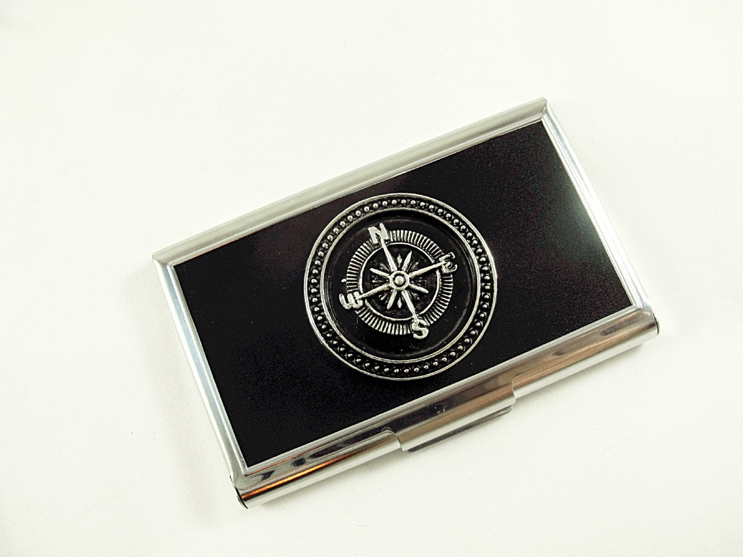 Business Card Holder Credit Card Holder Steampunk Silver