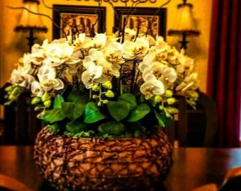 White Orchid Deluxe Centerpiece