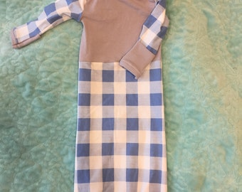 Gingham baby gown