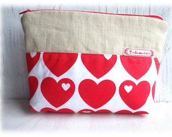 Heart - pouch Makeup Bags makeup bag mini bag hearts gaudy casual
