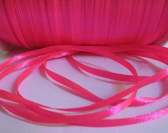10 m 3mm neon pink satin ribbon