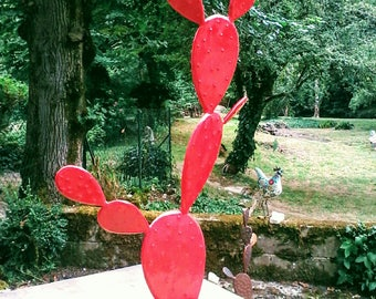 """Sculpture Métal """"CACTUS""""  98/104 CM"""
