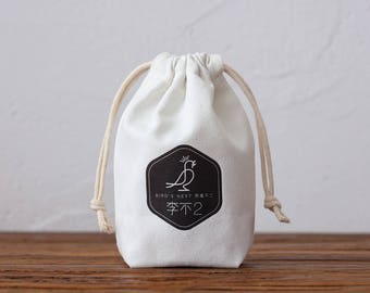 set of 50 personalized logo print,custom cotton drawstring bags,jewelry packaging bag,chic drawstring pouches,premium small canvas bag