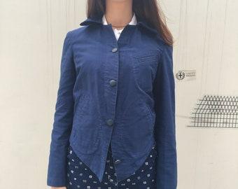 Vivienne Westwood giacca blu, Giacca Vivienne Westwood, giacca worker cotone, giacche Vivienne Westwood, giacca lavoratore blue