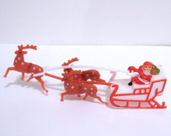 Santa on Sleigh Cake Topper Small