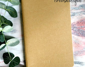 Notebook/kraft/A5 size/lined paper notebook