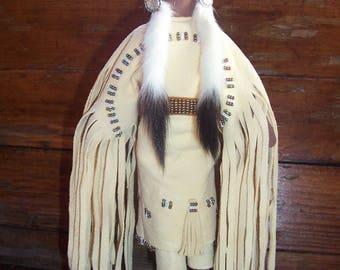 Native American Doll Lakota Sioux Made - Smithsonian Copy