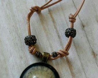 Sand Dollar Necklace, Sand Dollar Chain, Sand Dollar Jewelry, Sand Dollars, Mermaid Jewelry, Ocean Jewelry, Ocean Necklace, Leather Necklace