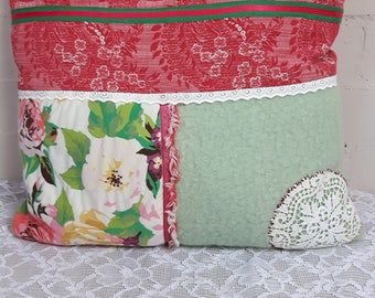 Pillowcase with Crochet doily