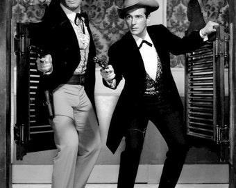 "Jack Kelly & James Garner in the TV Western Series ""Maverick"" - 5X7 or 8X10 Publicity Photo (DA-119)"