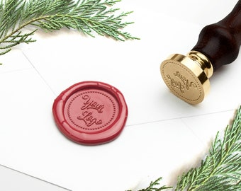 Logo Wax Seal, Custom Wax Seal Stamp with Free Sealing Wax, Wedding Wax Seal, Custom Seal, Business Seal, Personal Wax Seal, Stamp