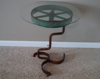 Recovered vintage table/stand