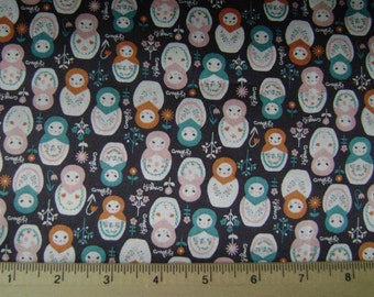 Doll Print Satin Fabric