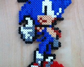 Pixel art / Perler Beads Sonic