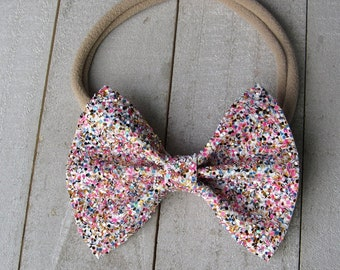 Candy shop glitter bow