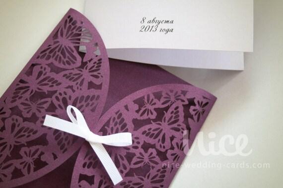 digital  svg file butterfly wedding invitation cover